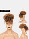 5 Colors Africa Small Curly Short Wig Fluffy Bangs Explosive Head Hair Bag - #05