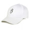 Womens Mens Solid Color Cotton Baseball Cap Sunshade Outdoor Sports Hat With Gesture - White