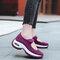 Women Casual Sports Mesh Hook Loop Platform Sneakers