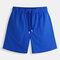 Mens été courts shorts arrière métal trou à séchage rapide shorts de planche doublure en maille lâche lâche sport trunks