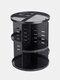 360 Rotating Makeup Organizer Detachable multifunctional Cosmetic Storage Box - Black