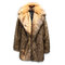 Mens Faux Raccoon Fur Trench Coat Mid Long Thickened Warm Fur Suit Collar Casual Coat