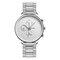 Leisure Sports Men Watch Full Alloy Case Small Three-Hand Dial Chronograph Quartz Watch - White