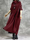Solid Color Plush Patchwork Turtleneck Long Sleeve Dress - Wine Red
