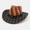 American Flag Retro Western Cowboy Hat Summer Prairie Straw Hat - #04