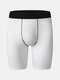 Solid Color Breathable Stitching Design Sport Legging Running Stretch Shorts With Side Pockets - White