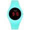 カジュアルスポーツ男性女性LED電子Watchシリコンバンド発光センサー防水デジタルWatch - 空色