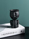 Abstract Humanoid Nordic Creative Human Face Flower Pot Character Sitting Posture Resin Sculpture Vase Desktop Flower Arrangement Container Couple Gift Ornaments - #02