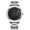Mode-Stil drehen Uhr wasserdichte Sport Herrenuhr einfache Edelstahl Taille Uhr