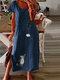 Cute Cat Daisy Print Short Sleeve Plus Size Split Dress - Navy