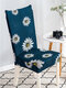 One-piece Waterproof Flowers Prints Elastic Stretch Chair Cover Universal Size Slipcovers Seat Cover For Dining Room Banquet Hotel - Green