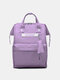 Casual Oxford Splashproof Large Capacity 14 Inch Handbag Backpack - Dark Purple