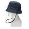 Anti-spitting Protective Mask Hat Anti-fog Anti-Splash Fisherman Full Face Cap   - Blue