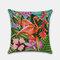 Tropical Flower Pillowcase Flamingo Parrot Leaf Digital Printing Linen Without Core - #2