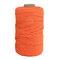 1Pc 200 mx4mm Colore Cotone Corda Filo di cotone Intrecciare la corda Mano FAI DA TE Decorativo Corda Arazzo Corda di tessitura - arancia