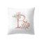 Einfache nordische Art rosa Alphabet ABC Muster Throw Kissenbezug Home Sofa Creative Art Kissenbezüge - #2
