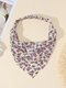 Women Country Style Floral Rose Pattern Elastic Triangle Wrap Headscarf Headband - Purple+White