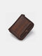Men Genuine Leather Multi-slots Retro Removable Foldable Card Holder Wallet - Coffee