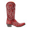 Large Size Retro Women Rivet Pattern Casual Pointed Toe Cowboy Boots - Red