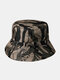 Unisex Cotton Camouflage Solid Climbing Outdoor Sunshade Adjustable Bucket Hat - Camo-4