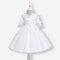 Calico Embroidered Patchwork Casual Dress For 3-11Y - White