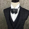 Vintage Bow Tie Black Leather Luxury Crystal Multiple Styles Bow Bolo Tie Formal Jewelry for Men