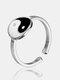 خاتم قابل للتعديل من التيتانيوم الصلب على الطراز الصيني - فضة
