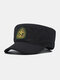 Men Cotton Camouflage Embroidery Print Susnhade Outdoor Casual Flat Hat Peaked Cap Military Hat - Black