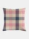 Classic Plaid Pattern Linen Cushion Cover Home Sofa Art Decor Throw Pillowcase - #05