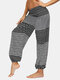 Floral Butterfly & Ethnic Print Pocket Yoga Bloomers Pants - #1