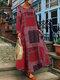 Bohème imprimé floral plage été Plus taille maxi robe - rouge