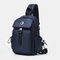Men Large Capacity Multi-carry Crossbody Bag Backpack Chest Bag Sling Bag - Blue