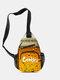 Casual Canvas Cool Letter Print Pattern Chest Bag Zipper Pocket Crossbody Bag - #04