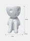 1 PC Resin Abstract Simple Cute Humanoid Flower Vase Decoration Tuck Knees And Sit Posture Character Desktop Living Room Bedroom Ornament Decoration - #01