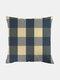 Classic Plaid Pattern Linen Cushion Cover Home Sofa Art Decor Throw Pillowcase - #08