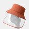COLLROWN Adjustable Sun Hat With Large Eaves Anti-fog Removable Sun Visor - Orange