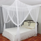 Mosquito Net 4 Corner Post Bed Canopy Mosquito Net Full Queen King Size Netting Bedding - White