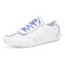 Men Light Weight Lace-up Round Toe Breathable Casual Driving Shoes - Blue