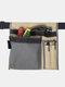 حقيبة قماشية مربعة متعددة الوظائف أداة جيب أداة سباك التخزين - الكاكي