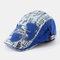 Men And Women Denim Stitching Flat Cap Fashion Outdoor Berets - Blue