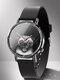 Animal Printed Men Business Watch Black-White Dogs Cats Pattern Women Quartz Watch - #14