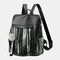 Women Ethnic Fluffy Ball Anti theft Multi-carry Backpack - #03