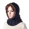 Bufanda con capucha en punto cálida resistente al viento para mujeres y hombres