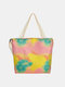 Women Tie Dye Crossbody Bag Handbag Shoulder Bag - Pink