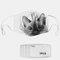 Cat Pattern Polyester Fashion Dustproof Mask With 7 Mask Gaskets - #01