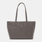 Women Large Capacity 14 Inch Laptop Bag Shoulder Bag Tote - Grey