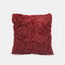 Nordic Wind Solid Color Sofa Pillow Office lumbar Pillow Car Cushion Cover - Wine Red