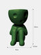 1 PC Resin Abstract Simple Cute Humanoid Flower Vase Decoration Tuck Knees And Sit Posture Character Desktop Living Room Bedroom Ornament Decoration - #03