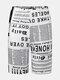 Newspaper Print High Waist Biker Shorts Sport Leggings For Women - White