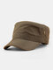 Men Solid Color Quick Dry Breathable Sunscreen Military Hat - Army Green